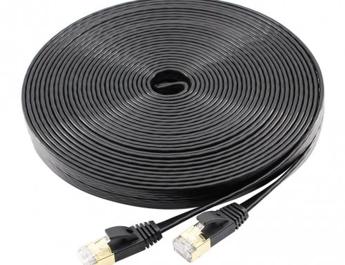 50ft Flat Cat7 STP Ethernet Lan Cable RJ45 Cable
