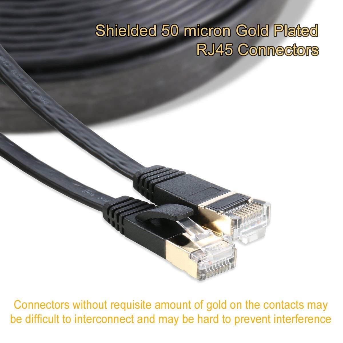 Rj45 Connectors Gold Plated Plug S Stp Wires Networking Cable Wiring