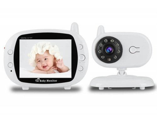 2.4G Digital Wireless 3.5 inch Color LCD Baby Monitor