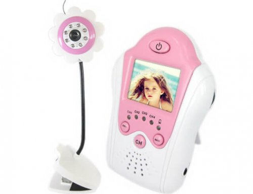 1.5 Inch Color Screen 2.4 GHz Flower Type Baby Monitor