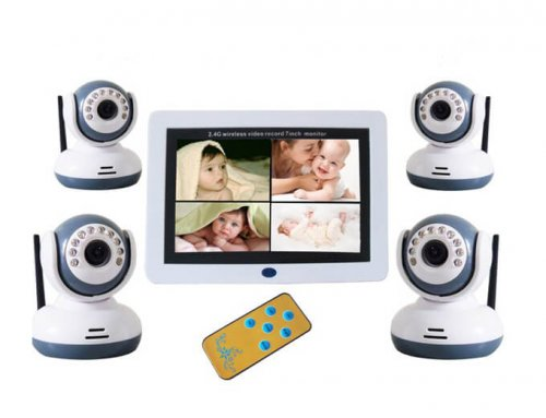 7.0 Inch Digital Wireless Video Baby Monitor with 4 Cameras