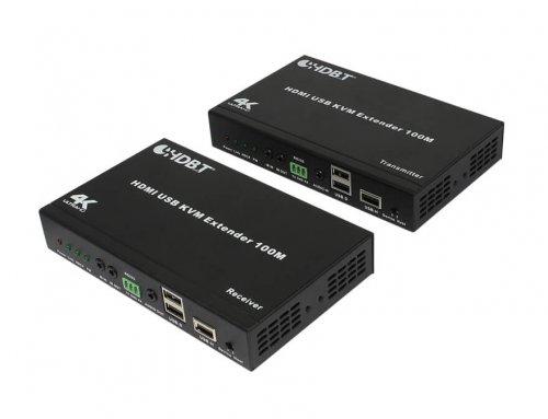 100m HDMI USB KVM Extender