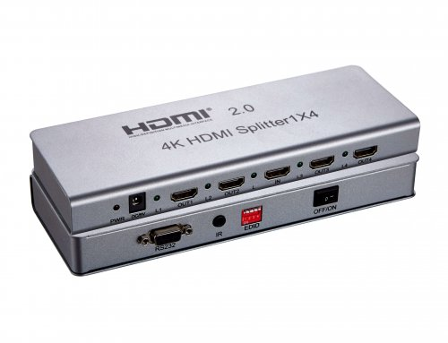 1×4 HDMI 2.0V Splitter 4K