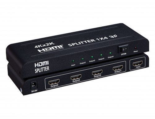 1×4 HDMI 1.4V Splitter 4K