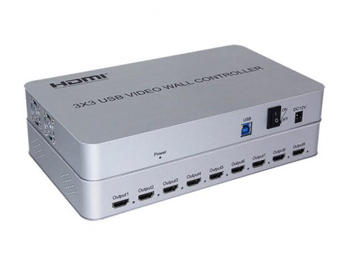 4K 3×3 HDMI Video Wall Controller