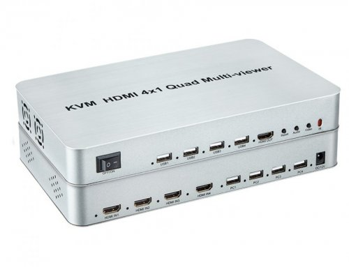 4X1 Quad HDMI USB KVM Switch
